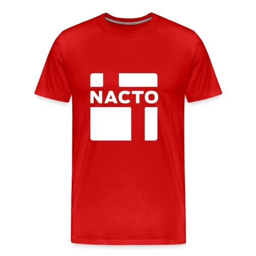 NACTO_logo_white - Men's Premium T-Shirt