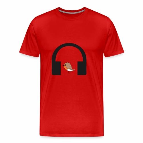bird listen to music - Men's Premium T-Shirt