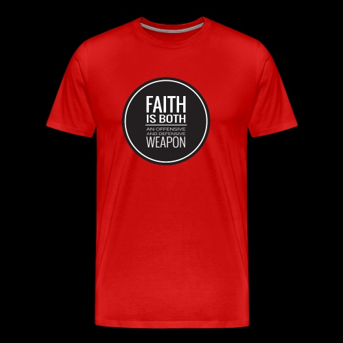 Faith is a Weapon - black - Men's Premium T-Shirt