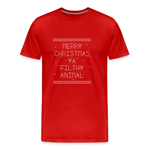 Merry Christmas Filthy Animals - Men's Premium T-Shirt