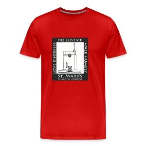 Black St. Mark's Logo - Men's Premium T-Shirt