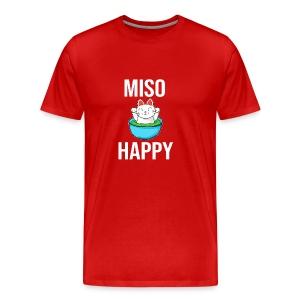 Miso Happy Cute Cate (Neko) - Men's Premium T-Shirt
