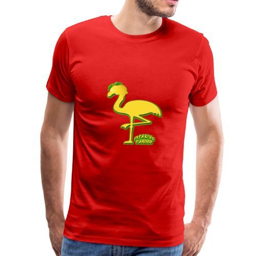 Fruit Flamingo Neon—Lemon - Men's Premium T-Shirt