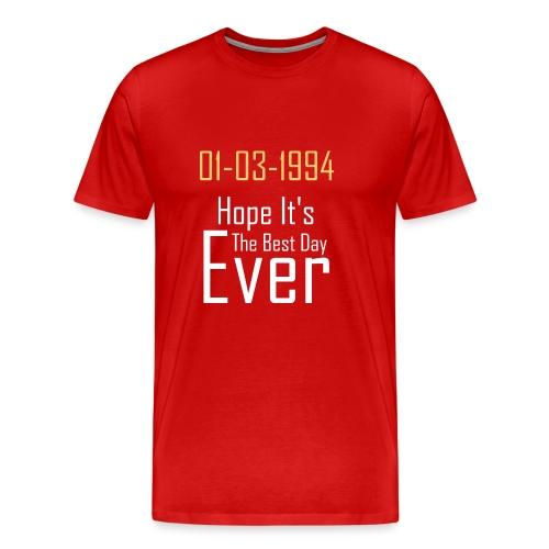 01/03/1994 justin b birthday - Men's Premium T-Shirt
