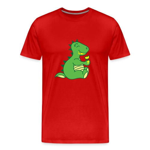 Dinosaurs Love Ice Cream - Men's Premium T-Shirt