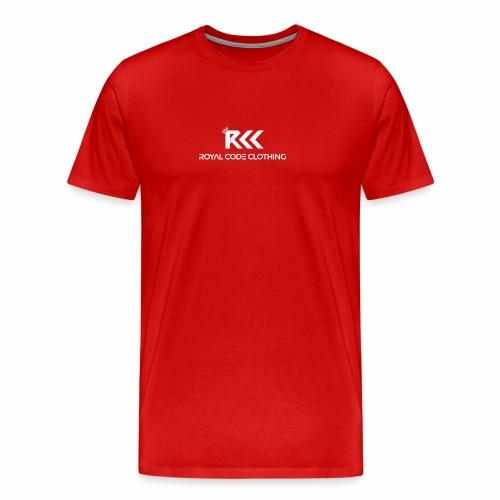 White RCC Logo - Men's Premium T-Shirt