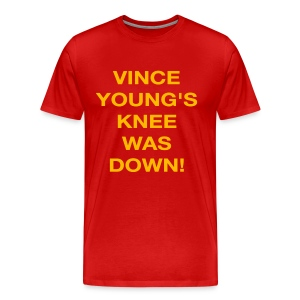 Vince Young's Knee Was Down - Men's Premium T-Shirt