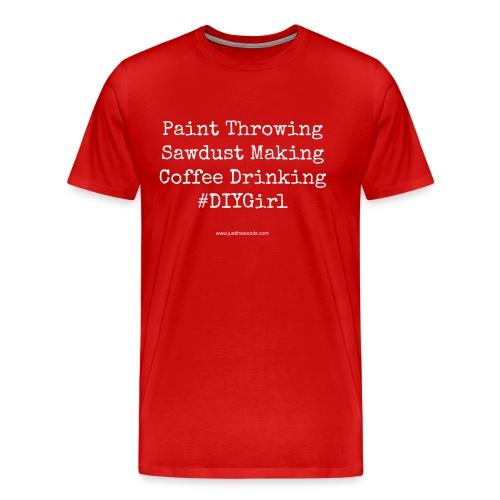 paint coffee work - Men's Premium T-Shirt