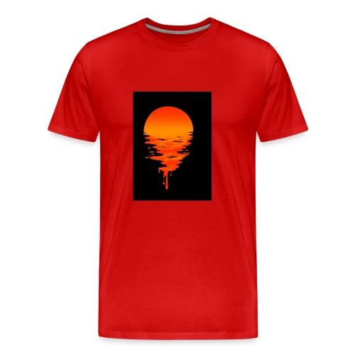 Creative picture of sun going down with nice color - Men's Premium T-Shirt