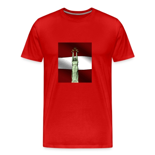 red-Latvija-Flag - Men's Premium T-Shirt