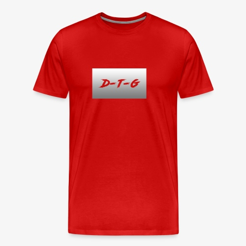 D-T-G White Design - Men's Premium T-Shirt