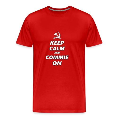 Keep Calm And Commie On - Communist Design - Men's Premium T-Shirt