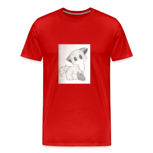 Adorable Drawing Of Anime Fox - Men's Premium T-Shirt