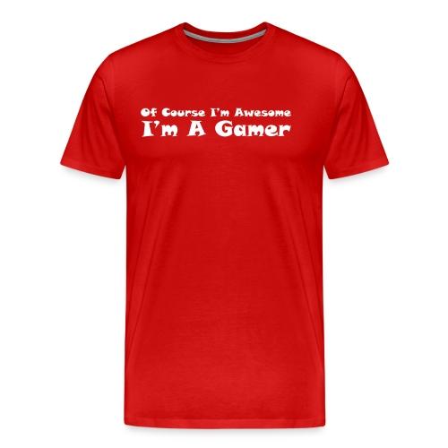 awesome gamer - Men's Premium T-Shirt