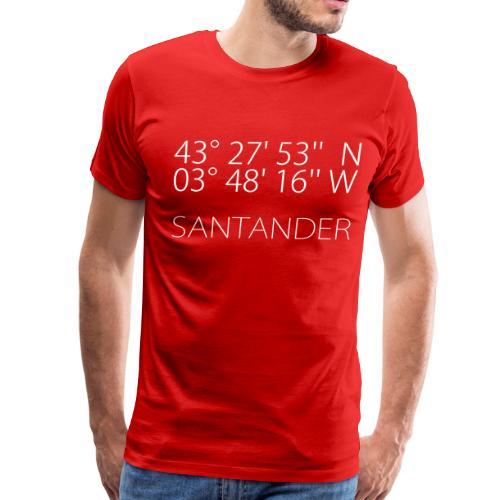 Santander Latitude & Longitude - Men's Premium T-Shirt