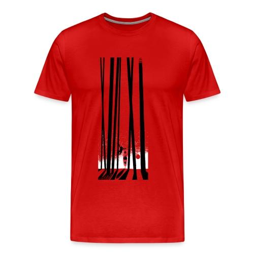 Kayak, monkey, forest - Men's Premium T-Shirt