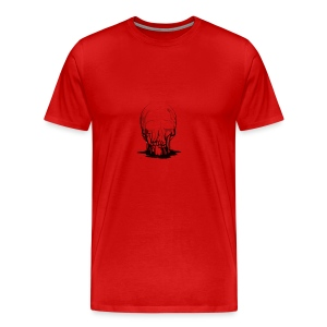 Real Scary Blood Skull - Men's Premium T-Shirt