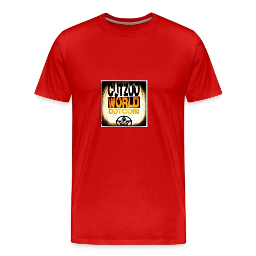 CutZooWorld logo - Men's Premium T-Shirt