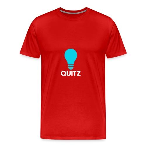 Quitz Blue w/ white text - Men's Premium T-Shirt