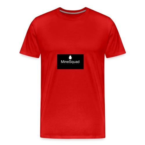 #MineSquad Thinking Logo - Men's Premium T-Shirt