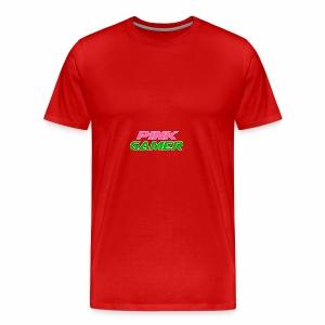 PINK Gamer Logo: Light Outline - Men's Premium T-Shirt