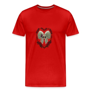 LOVE SKULLS ROSES - Men's Premium T-Shirt