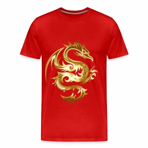 Abstract golden dragon - Men's Premium T-Shirt