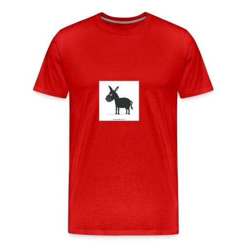 Awesome donkey animated - Men's Premium T-Shirt