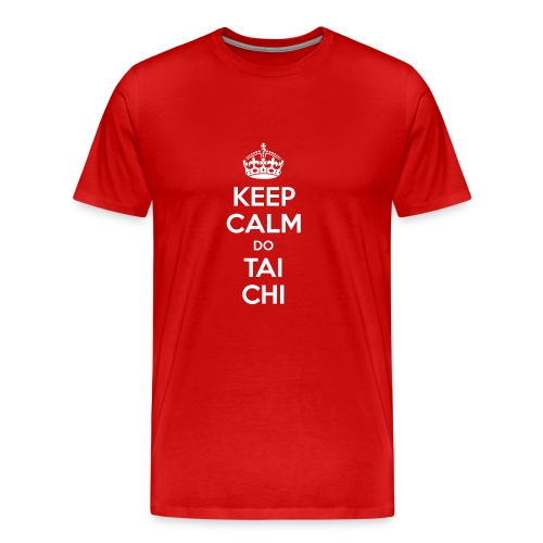 Keep Calm do Tai Chi (white) - Men's Premium T-Shirt