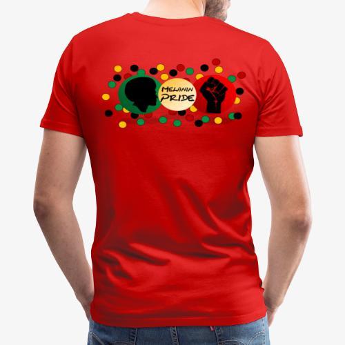 Melanin Pride Logo with dots - Men's Premium T-Shirt