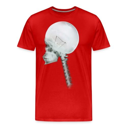 Light Bulb Skull - Men's Premium T-Shirt