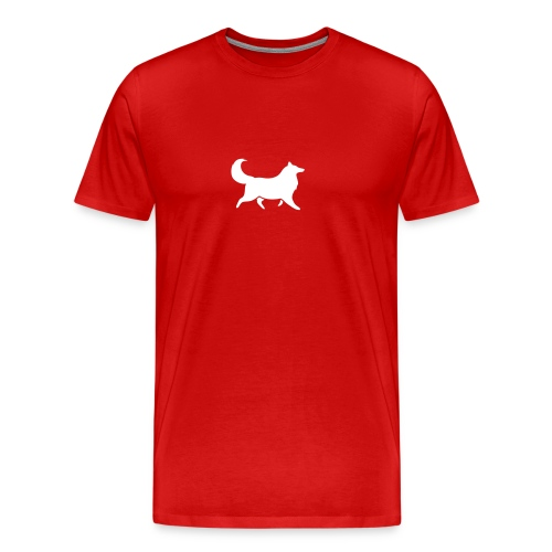 Collie silhouette small - Men's Premium T-Shirt
