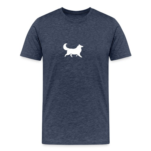 Collie silhouette small - Men's Premium T-Shirt
