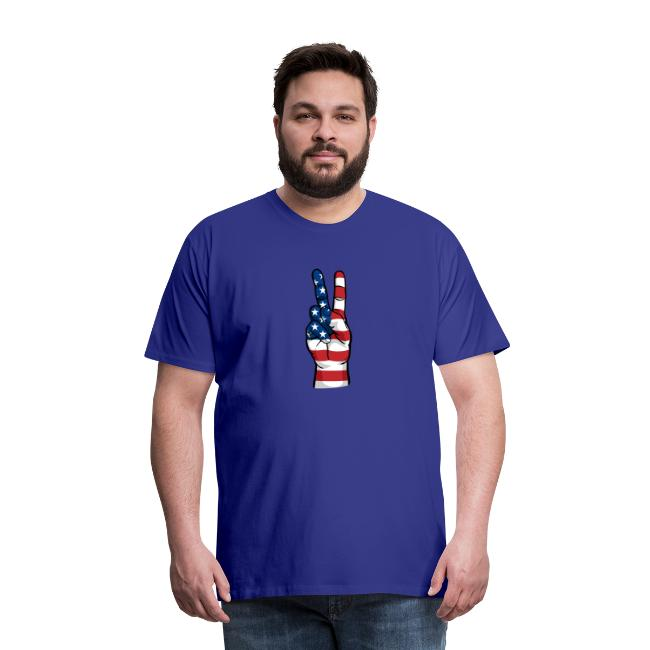 hand peace sign USA T small