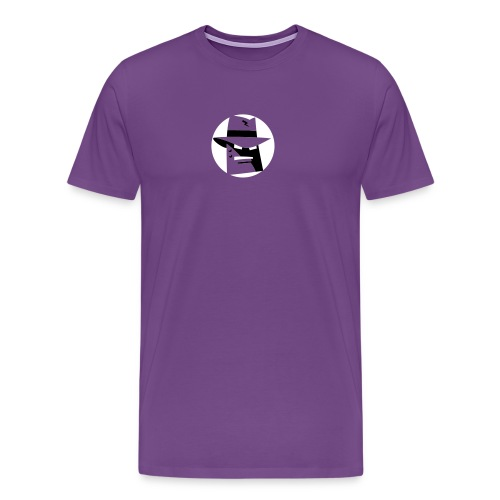 Robot Gangster Shadow - Men's Premium T-Shirt