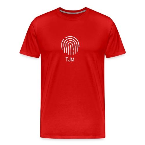 White TJM logo - Men's Premium T-Shirt