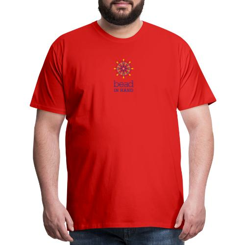 Bead In Hand Logo with Name - Men's Premium T-Shirt