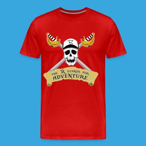 Pirate R for Adventure - Men's Premium T-Shirt