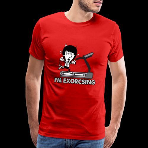 I'm Exorcising My Demon   Funny Halloween Workout - Men's Premium T-Shirt