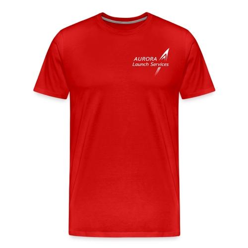Aurora LS logo white - Men's Premium T-Shirt