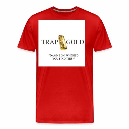 trap gold logo - Men's Premium T-Shirt