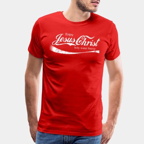 drink holy water christ - Men's Premium T-Shirt