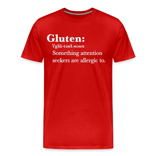Gluten def - Men's Premium T-Shirt