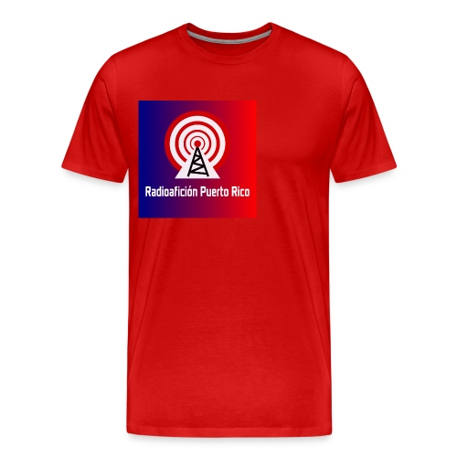 LOGO de radioaficionpr logoazulyrojo2 - Men's Premium T-Shirt