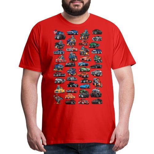 American Hot Rods, Muscle Cars, Pickup Trucks - Men's Premium T-Shirt
