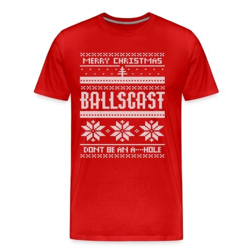 Ballscast Ugly Sweater - Men's Premium T-Shirt