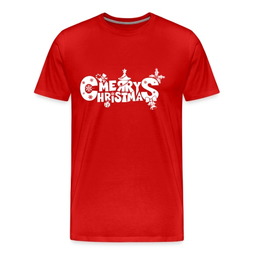 Merry Christmas blanco - Men's Premium T-Shirt