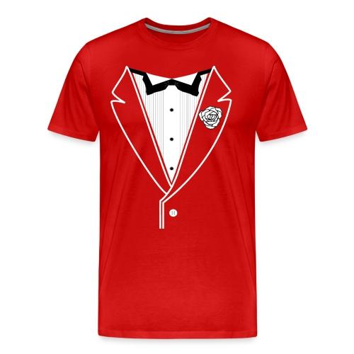 WhtLineWhtflower - Men's Premium T-Shirt