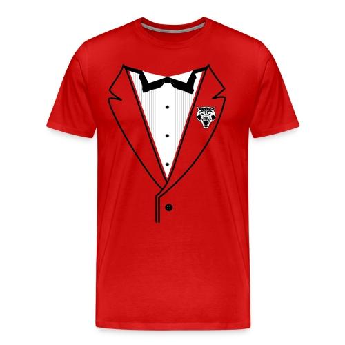 WOLF TUXEDO - Customize your color - Men's Premium T-Shirt