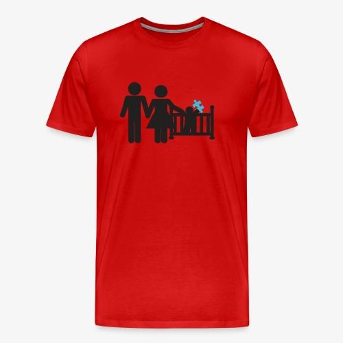 Family Autism Awareness - Men's Premium T-Shirt